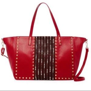 ‼️Coming Next Week‼️OVERSIZED STUDDED TOTE in RED